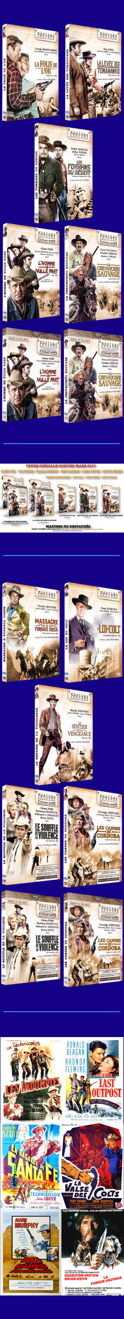 Nouveautés western DVD & Blu-ray Sidonis